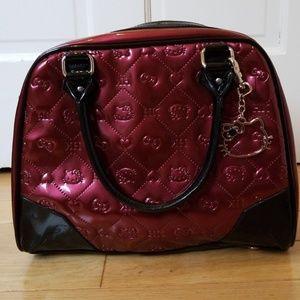Black and Burgundy Hello Kitty Handbag